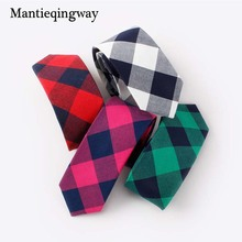 Mantieqingway Fashion Casual Cotton Plaid & Striped Mens Ties for Men 6CM Narrow Neck Tie Wedding Party Business Necktie Brand(China)