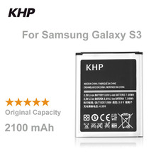 100% Original Brand KHP Phone Battery For Samsung Galaxy S3 SIII I9300 I9305 I9308 Built-in Replacement Mobile Batteries