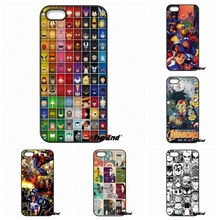 all Super Heroes puzzle Collage dc comics Phone Case For iPhone 4 4S 5 5C SE 6 6S 7 Plus Galaxy J5 J3 A5 A3 2016 S5 S7 S6 Edge