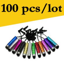 ODD SHIELD Brand wholesale mini Capacitive Touch Pen 100 Piece/Lot Capacitive Mobile Phone Pen Universal Model(China)