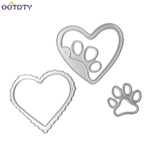 Heart Dog claws Steel Metal Cutting Embossing Dies Stencil For DIY Scrapbooking Paper Card Craft(China)