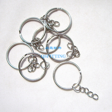 supply DIY fashion jewelry Accessory,Key Ring,Alloy Material,25MM Diameter,Rhodium Plating