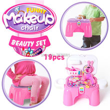 Folding chair storage box 3style with tool/kitchen/makeup toy set,pretend play game dresser table engineer happy kitchen for kid
