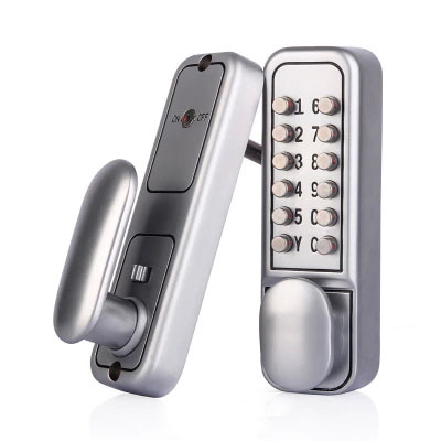 mechanical door locks All weather waterproof Satin Chrome mechanical pushbutton The 3th generation of OS600 <br><br>Aliexpress