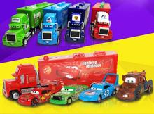 Pixar Cars 2 Alloy car 1:55 Model Decoration Lightning McQueen 95# 43# 86# 51# 52# The King Sally Mater Fillmore FLo cargo truck