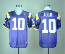 Nike New arrival LSU Tigers Joseph Addai 10 White College Jersey Ice Hockey Jerseys M,L,XL,XXL,3XL(China)