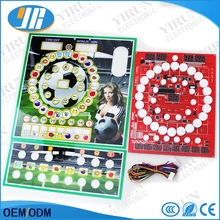 Football baby pattern Casino game board mario slot PCB board with acrylic and wiring harness Coin-operated game accessories(China)