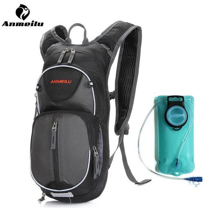 ANMEILU 15L Waterproof Rucksack Outdoor Cycling Climbing Hiking Sport Bag Water Bladder Camelback Backpack +2L Water Bag<br>