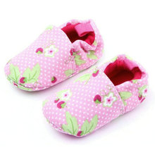 Soft Boys Girls Cotton Baby Shoes Infant Slippers New Style Pink Leopard Printed First Walkers Skid-Proof Toddler Shoes(China)