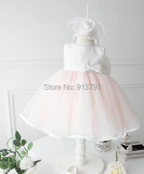 Retail 2015 New Girl Wedding Dresses Bowknot Performance Dress The Flower Girl Dress 1-5Y 1234<br><br>Aliexpress