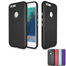 For Google Pixel Case Hybrid Armor Soft Silicon Hard PC Combo Aluminum Button Shockproof Cover For Google Pixel / Pixel XL Cases