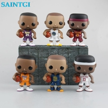 "SAINTGI funko POP Basketball NBA Star KOBE BRYANT STEPHEN CURRY LEBRON JAMES PVC Action Figure Model Collection Toy Doll 4"" 10CM"