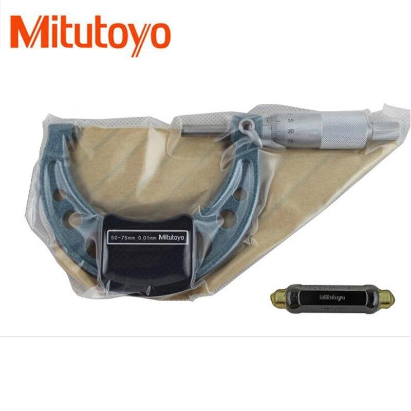 1PCS Mitutoyo Outside Micrometers 0-25 25-50 50-75mm Metalworking Measuring Accuracy 0.01mm Measuring Gauging Tools Measurement <br>