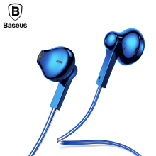 Baseus H03 in-ear Colorful Earphone Cool Bass Sound sport earphones for xiaomi iphone fone de ouvido with Mic for mobile phone(China)