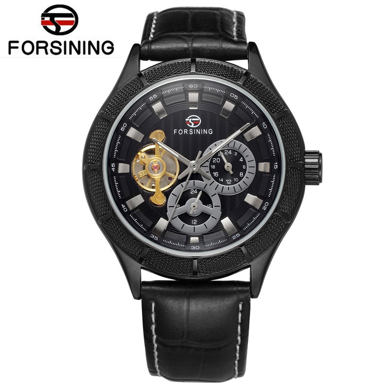2017 Forsining Relogios Masculino Casual Mens Flywheel Auto Mechanical Wrist Watch Best Gift Free Ship<br>