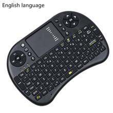 Wireless Keyboard 2.4G i8 Wireless Mini Keyboard English Russian Touchpad Mouse Combo For Tv box tablet mini pc For ps3 For HTPC