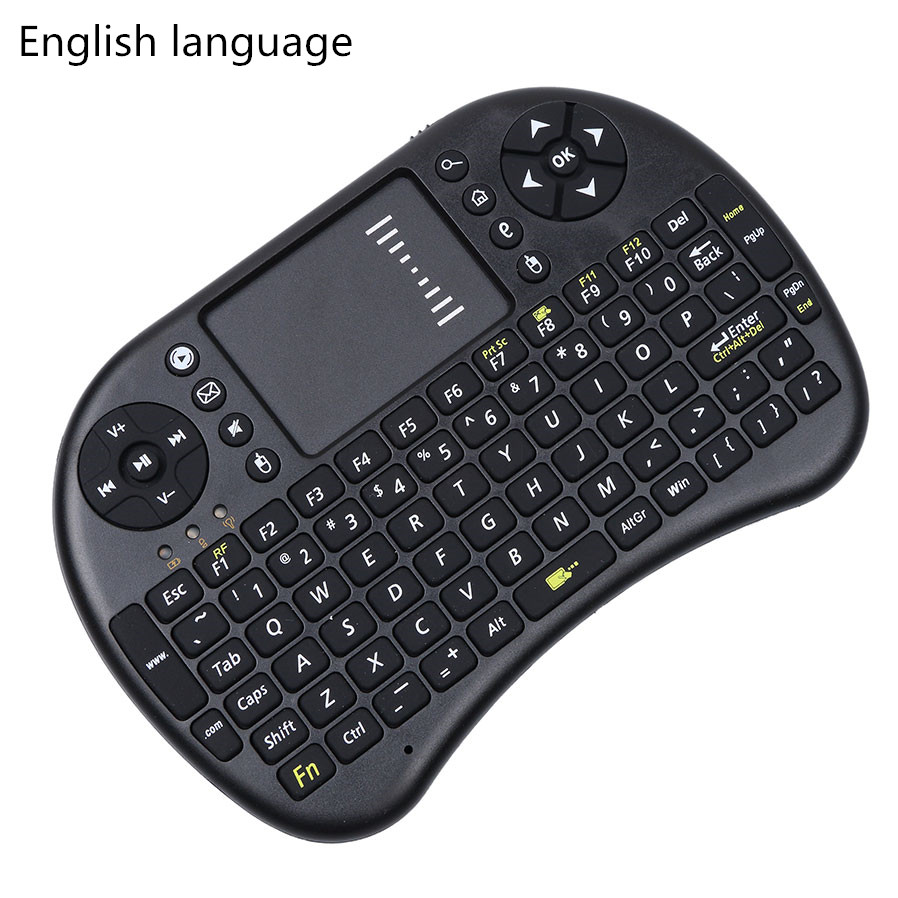 Wireless Keyboard 2.4G i8 Wireless Mini Keyboard English Russian Touchpad Mouse Combo For Tv box tablet mini pc For ps3 For HTPC(China (Mainland))