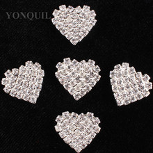 Full Crystal fashion heart Brooches For Women High Quality Suits Dress Sweater Brooch Pins Hat material Gift 15pcs/lot SYBB117(China)