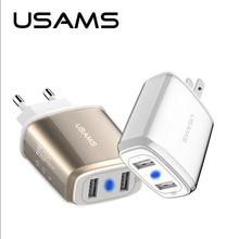USAMS Quick Charger US Plug USB AC Travel Charging wall Charger Power Adapter for iPhone ipad Samsung S7 Huawei P9 Xiaomi SONY(China)