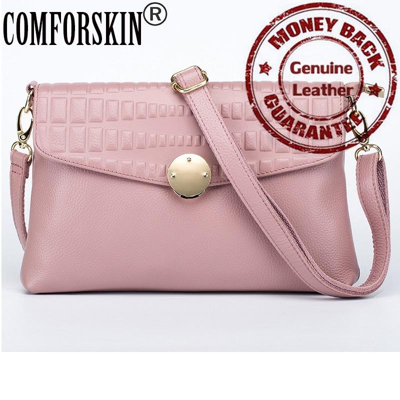 2017 New Arrivals Luxury Cow Leather European American Feminine Messenger Bags Designer Single Strap Women Bags 5 Color On Sale<br><br>Aliexpress