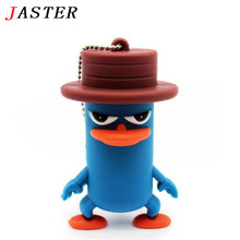 JASTER lovely animal flat upper beak duck USB flash drive pen drive pendrive 32GB 16GB 8GB Flash Memory Stick U Disk