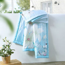 New 100% Tencel Bedding Set Quilted Blanket Queen 200*230cm King 220*240cm Mechanical Wash Adults Printed Stitching Summer Quilt(China)