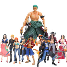 10styles Variable 16-18cm Luffy Ace Zoro Sabo Nami Robin Mihawk Action Figure One Piece Collectible Model Dolls brinqudoes Box