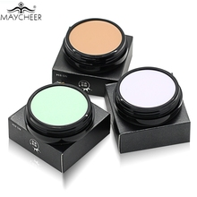 MAYCHEER Base Makeup Concealer Foundation Cream 10 Colors Oil-control Moisturizing Full Cover Pore Camouflage Contouring Palette(China)