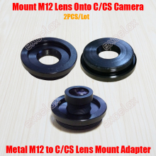 2PCS/Lot Metal M12/C M12/CS Lens Mount Adaptor Aluminum M12 to C CS Mount Adapter Converter Ring for Security CCTV Camera(China)
