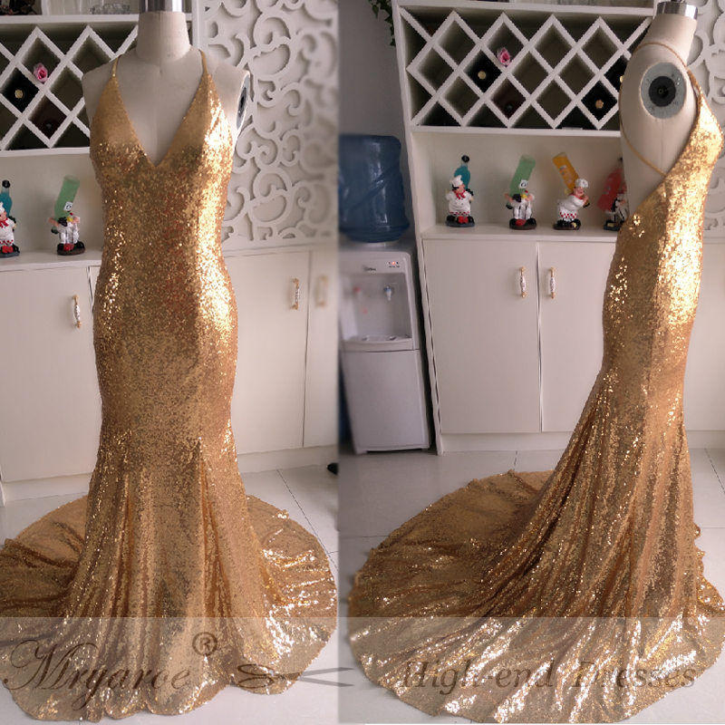 Detail Feedback Questions About Mryarce Gold Prom Dresses 2018