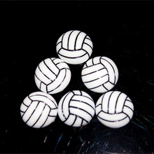 Free Shipping! wholesale 100pcs hot sale Volleyball Sports Resin Flatbacks Flat back Cabochon for DIY decoration