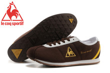 Hot Sale Le Coq Sportif Men's Running Shoes,High Quality Canvas Upper Le Coq Sportif Men Athletic Shoes Sneakers Brown/Golden 4(China)