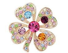 New romantic  rhinestone four leaf clover brooch full rhinestone fashion personality gentlewomen corsage