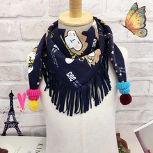 New Hot Sale Winter Autumn Fashion Girl Warm Soft Scarf Cotton Solid Long Scarf Children Beautiful Shawl Popular Scarves Wraps