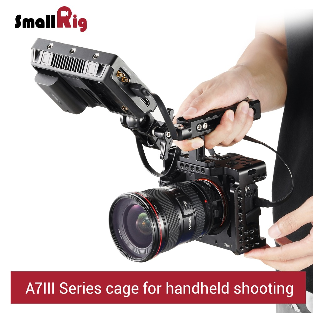 SmallRig a7iii a7r3 a7m3 Cage For Sony A7RIII /A7III/A7MIII Aluminum Alloy Cage To Mount Tripod Quick Release Extension Kit-2087 title=