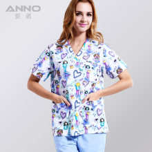 Medical clothing matching unisex women /men breathable natural uniformes hospital nursing scurbs set(China)