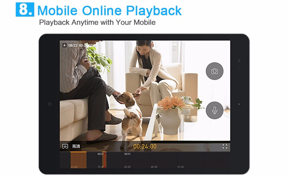 Wistino 720P Wireless IP Camera Motion Detection Home Baby Monitor IR Night Vision WiFi Camera Alarm Onvif Surveillance Security (15)