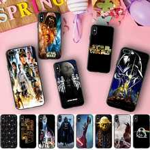 Minason Star Wars Art Pattern Logo Black Border Capa Soft Silicone Cell Phone Case for iPhone X 5 S 5S 6 6S 7 8 Plus Cover(China)