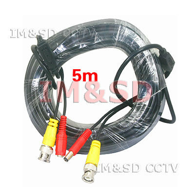 5M 16Feet DC Power BNC Video cable for Security Camera 5 Meter BNC DC CCTV Video Power Extention Cable Free Shipping<br><br>Aliexpress