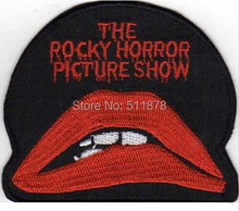 "3"" Rocky Horror Picture Show Lips & Words Movie TV Series Fancy Dress Costume Embroidered iron on patch TRANSFER APPLIQUE(China)"