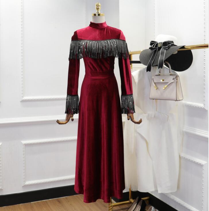 080b40fd13 Buy long velvet dress and get free shipping on AliExpress.com