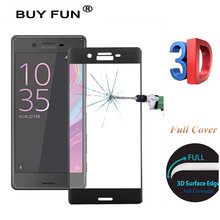 3D Full Cover Tempered Glass Screen Protector for Sony Xperia XA F3111 F3113/ XA Ultra C6 F3211 F3212 / X F5121 Protective Film