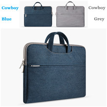 "Waterproof Denim Laptop Bag 15.6 15,14,12,11"" Computer Notebook Bag Briefcase For ASUS For Dell For Apple Mac Book Air 13 Case"