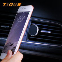 TIQUS Car Phone Holder Magnetic For iPhone 7 8 plus Samsung Auto Mini Air Vent Mount Magnet Mobile Universal Car Holder Stand(China)