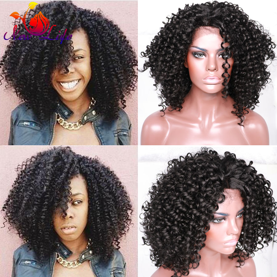 Synthetic Lace Front Curly Wig For Black Women New Kinky Curly Lace Front Wigs Short Black Synthetic Lace Front Wig High Quality<br><br>Aliexpress