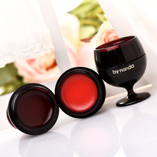 Cute Wine Glasses Waterproof Velvet Lipstick Batom Mate Kit Full Lips Tint Long Lasting Jelly Lipstick Matte Lips Care