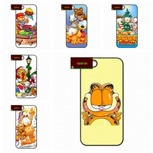 cute cartoon Garfield Cat Gif Cover case for iphone 4 4s 5 5s 5c 6 6s plus samsung galaxy S3 S4 mini S5 S6 Note 2 3 4   S0105