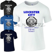 Leicester City Community Shield 2017 Wembley T-Shirt - LCFC Fan Kids Mens Top(China)