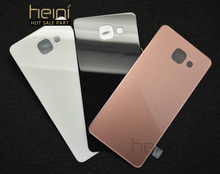 Heini 1PC Battery Cover Rear Back Door Housing Glass Case For Samsung Galaxy A7 2016 A710 A7100 A710F With Adhesive Glue(China)