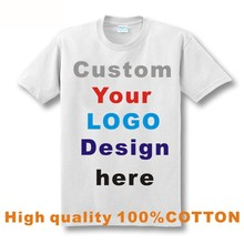 Custom Printed Personalized T-Shirts designer logo mens femal t shirt  Advertising brand new white tshirt short-sleeve blank tee